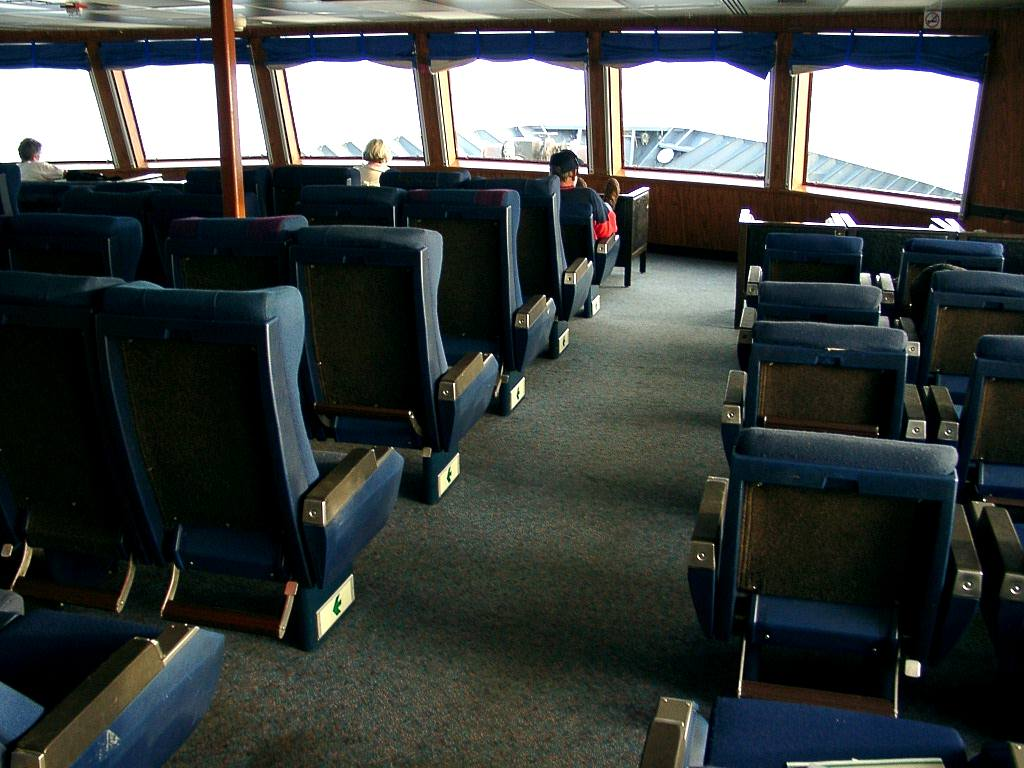 Viewing Lounge at front of Ferry