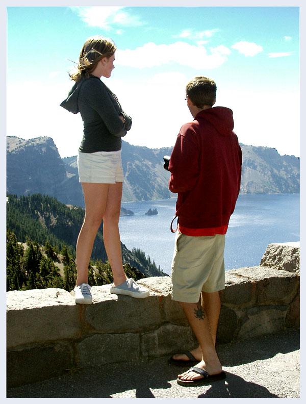 Ron & Jess enjoy the view