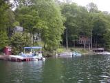 Many homesline the shoresof Candlewood Lake