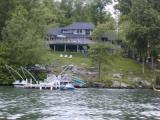 Home and dock on Candlewood Lake