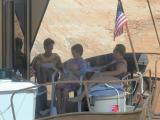 Denise, Joan, & Sueenjoy shade on the deck