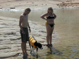 Nate, Sabrina, & Andreaplay in the water