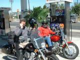 Doug & Christine filling up for Ortega Highway.