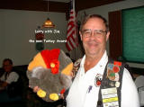1-At the breakfast Larry introduced the new Turkey Award since Phyllis moved in with Jim in Texas.