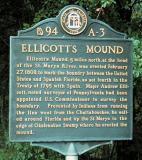 Historical Marker For Ellicott's Mound