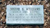 Old Concord Marker  Of Joseph B. Williams - Killed In Steamboat Explosion