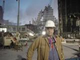Jason at Ground Zero in His Merck Jacket & Hardhat