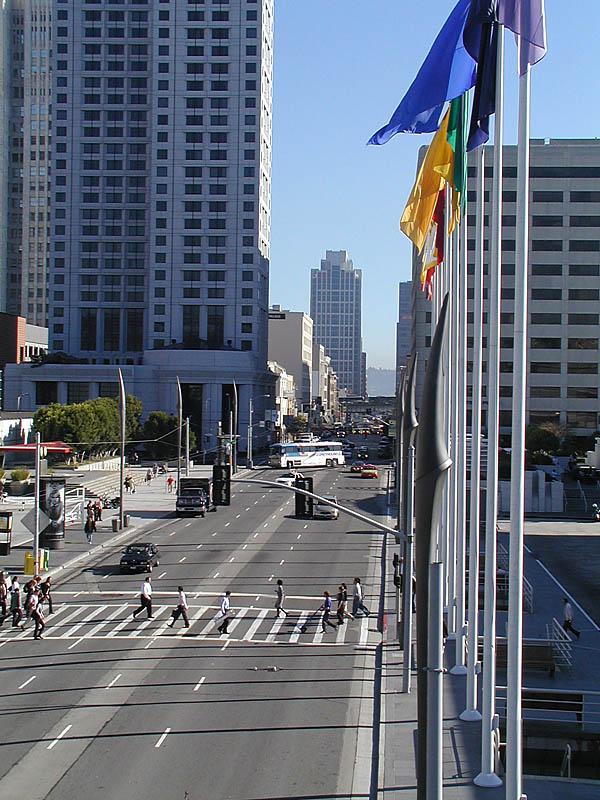 Moscone center crossing