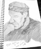 Tim Herrons sketch of Billy Clarksville (Bernie Sobolowski)