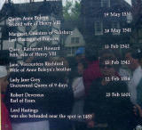 See the tourists checking out the names? King Henry VIII has 2 wives on this list!  Ouch!
