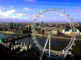 This is the London Eye, the newest tourist attraction in London.  The view must be astounding on a clear day!
