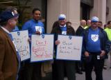AFT and others Rally in front of Schwab