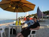 Couple of giant beers on the beach