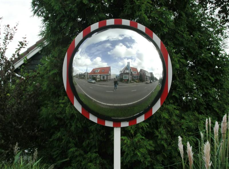 T-Intersection Mirror, Aalsmeer, Holland, September 11, 2001 - Do you see me?