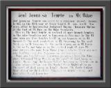 Temple History & Description
