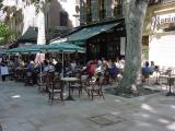 An outdoor cafe in Aix