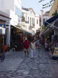 Main pedestrians' street in Tinos Town