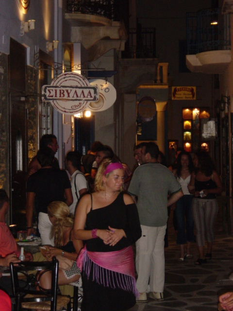 Tinos by night