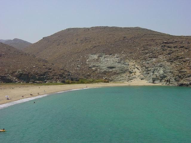 Long beach in Kolymbithra