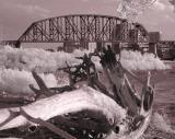 river rr bridge driftwood