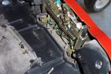 Then remove the cover for the latch assy inside the trunk