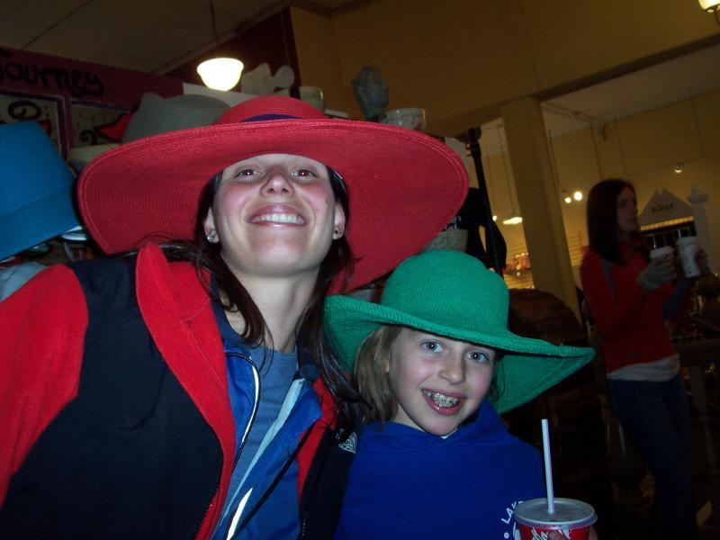 Alexa Broweleit & Montana Tucker - volunteer break in