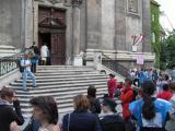 dominikanerkirche 1. bezirk, der hausherr ist überrascht: so viele neue schäfchen?