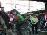Riders arriving at South Street