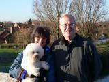 John, Di & dog