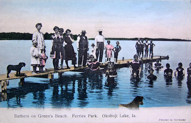 Bathers on Greens Beach 1908
