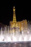dancing fountains and eiffel tower