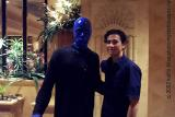k and other blue man