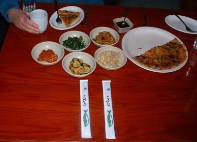 Seoul Korean Restaurant Condiments & Appetizer Pancake