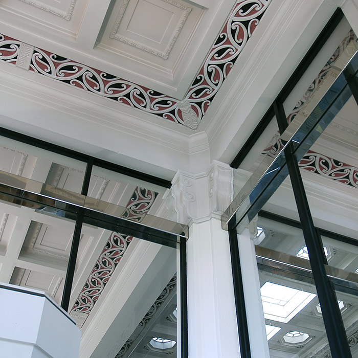 ASB Bank Details - Art Deco and Maori Motif