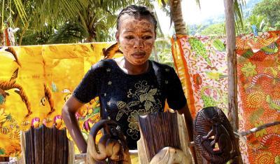 Saleswoman, Nosy Kombo, Madagascar, 2002