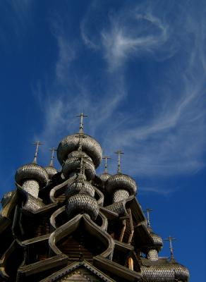 Clouds and Domes, Kizhi Island, Russia, 2003