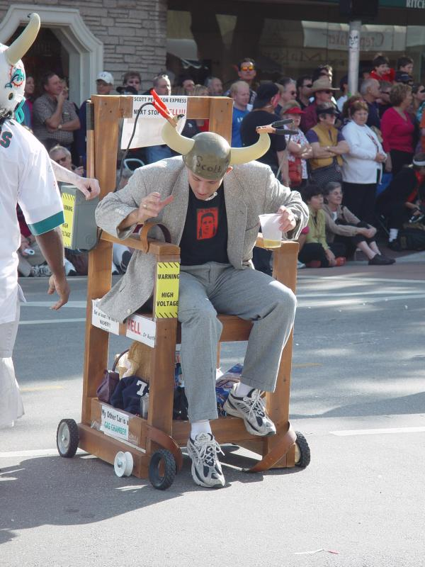 SCOTT PETERSON IN THE CHAIR