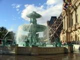 Paris fountain.