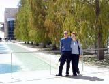 Rob and Lisa trying to look cool at the VERY stylish Getty Museum.