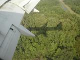 Shadow of plane on landing approach