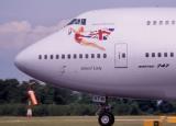 TF-ATW B747-200 Virgin Atlantic nose