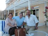 I'm joined by Kufi and friend on Palm Beach balcony