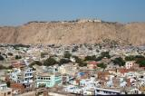 View of Nahargarth, the Tiger Fort, on a hill overlooking Jaipur