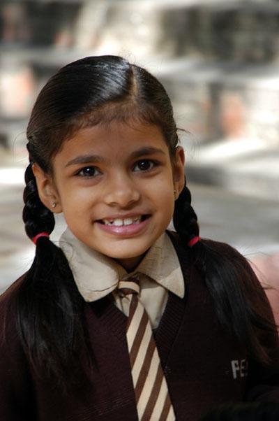 Indian school girl in Jaipur, India
