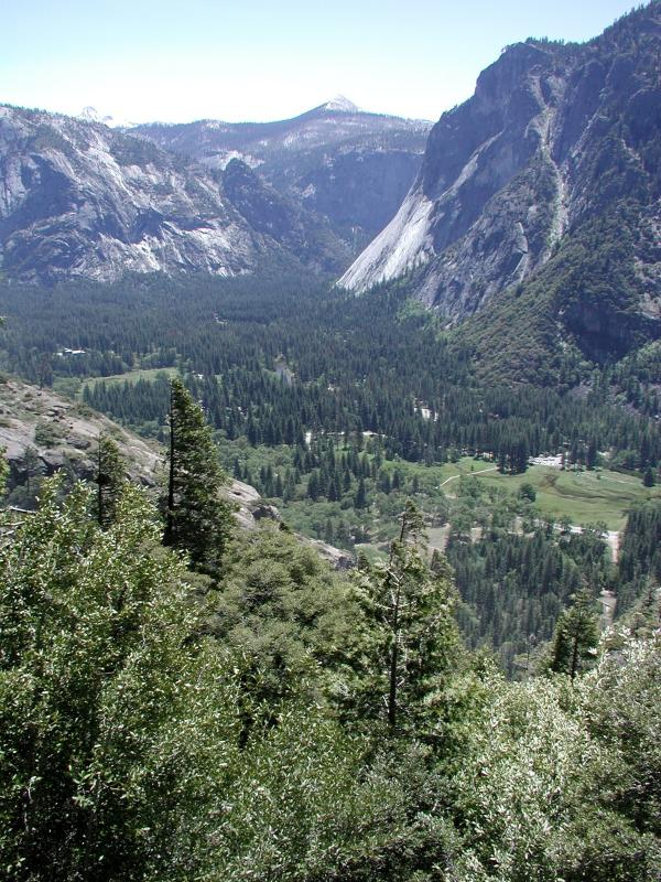 The valley below (b)
