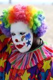 A clown on Venice Beach