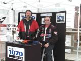 Doin the radio spot for the Pit Crew with Mike.JPG