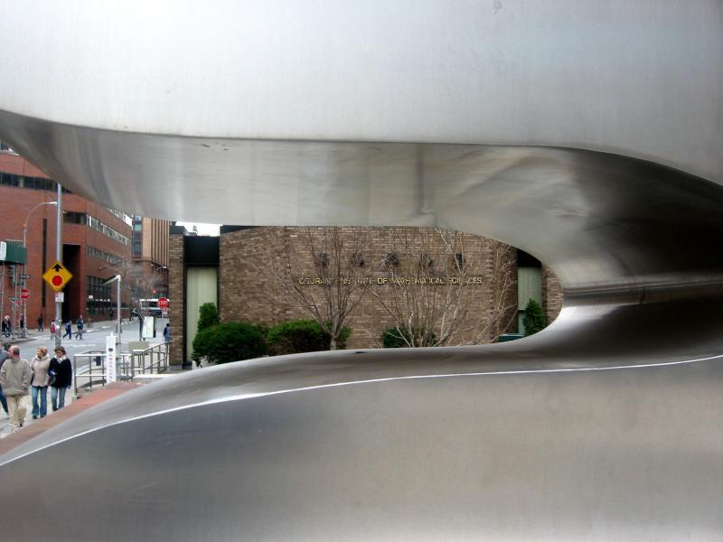 NYU Courant Institute of Mathematics Seen Through Jean Arps Sculpture