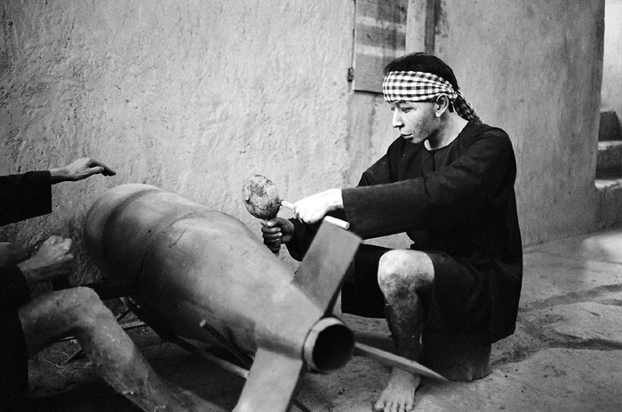 VC Mannequin Sawing An Aerial Bomb