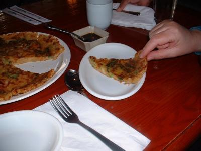 Seoul Korean Restaurant Scallion-KimCheePancakeSlice